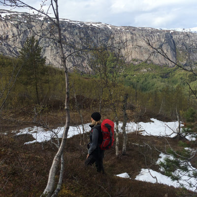 great trekking adventure in arctic Norway