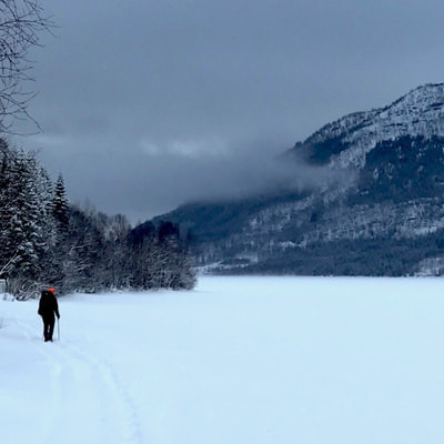 magnificent hiking adventure in the snow in the Arctic dutchexplorers