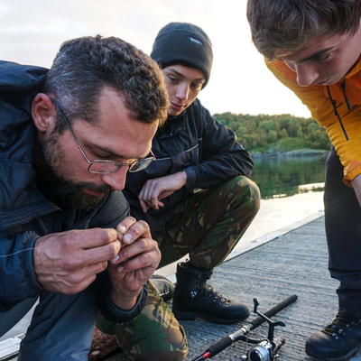 learning to fish in Norway dutchexplorers
