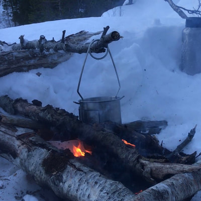 survivalcourse making fire in polar climate