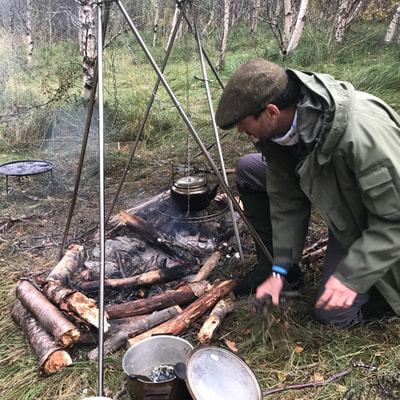 workshop cooking in the boreal forest Norway
