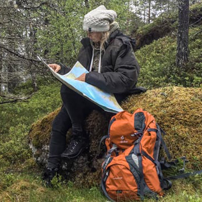survival adventure crossing the dense forests of Scandinavia