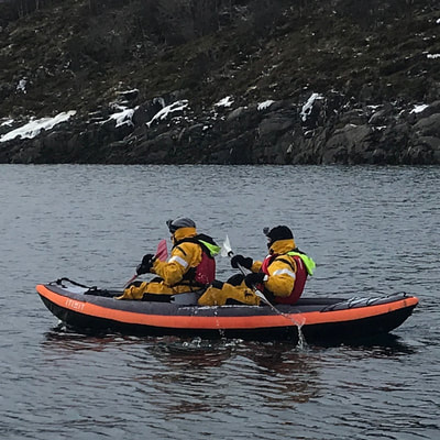 learn kayakking in northern Norway