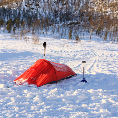 how to camp in snow in Scandinavia