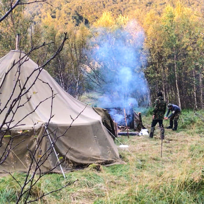 learn more about bushcraft in the woods in Norway